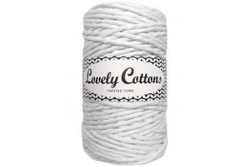WHITE WITH SILVER THREAD