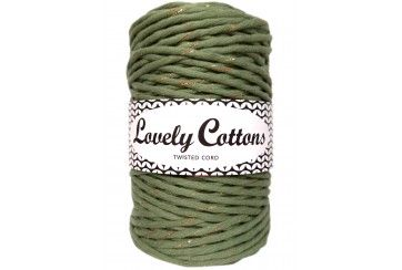 SAGE GREEN WITH GOLD THREAD